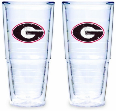 Georgia Set of TWO 24 oz. Tervis Tumblers