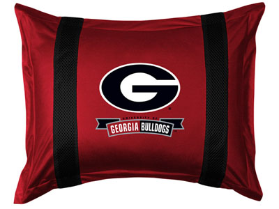 Georgia SIDELINES Jersey Material Pillow Sham