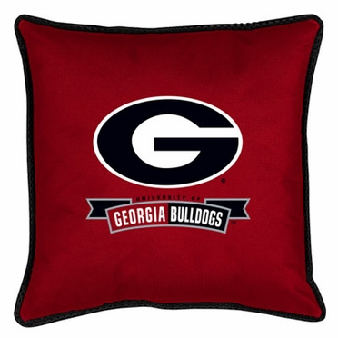Georgia SIDELINES Jersey Material Toss Pillow