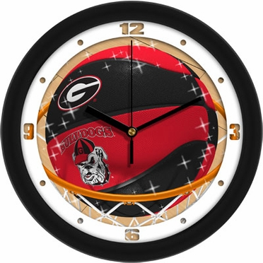 Georgia Slam Dunk Wall Clock