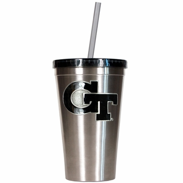 Georgia Tech 16oz Stainless Steel Insulated Tumbler with Straw