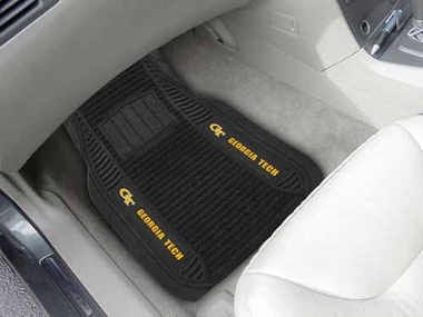 Georgia Tech 2 Piece Heavy Duty DELUXE Vinyl Car Mats