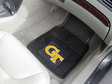 Georgia Tech 2 Piece Heavy Duty Vinyl Car Mats