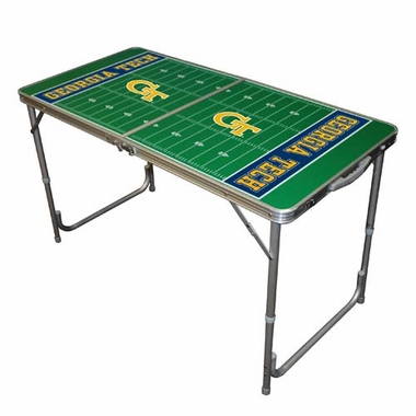 Georgia Tech 2 x 4 Foot Tailgate Table
