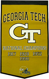 "Georgia Tech 24""x36"" Wool Dynasty Banner"