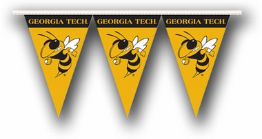 Georgia Tech 25 Foot String of Party Pennants (P)