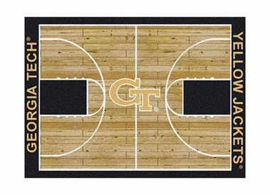 "Georgia Tech 3'10"" x 5'4"" Premium Court Rug"