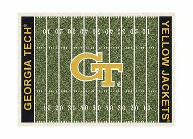 "Georgia Tech 3'10"" x 5'4"" Premium Field Rug"