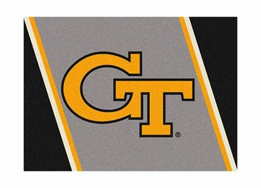 "Georgia Tech 3'10"" x 5'4"" Premium Spirit Rug"