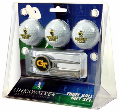 Georgia Tech 3 Ball Gift Pack With Kool Tool