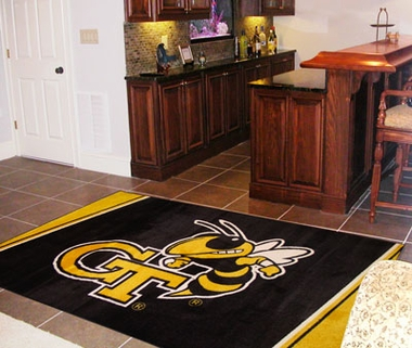 Georgia Tech 4 Foot x 6 Foot Rug