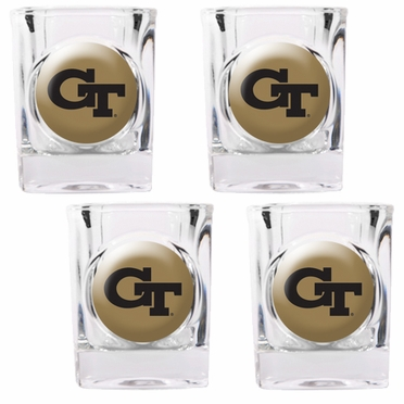 Georgia Tech 4 Piece Shot Glass Set