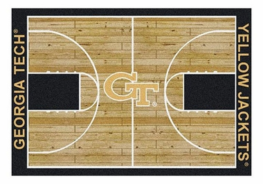 "Georgia Tech 5'4"" x 7'8"" Premium Court Rug"