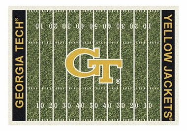 "Georgia Tech 5'4"" x 7'8"" Premium Field Rug"