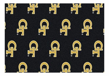"Georgia Tech 5'4"" x 7'8"" Premium Pattern Rug"