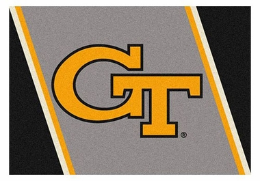 "Georgia Tech 5'4"" x 7'8"" Premium Spirit Rug"
