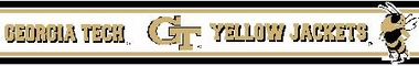 Georgia Tech 5.5 Inch (Height) Wallpaper Border