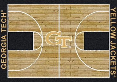 "Georgia Tech 7'8"" x 10'9"" Premium Court Rug"