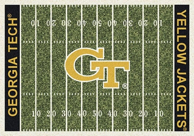 "Georgia Tech 7'8"" x 10'9"" Premium Field Rug"