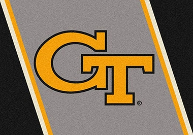 "Georgia Tech 7'8"" x 10'9"" Premium Spirit Rug"