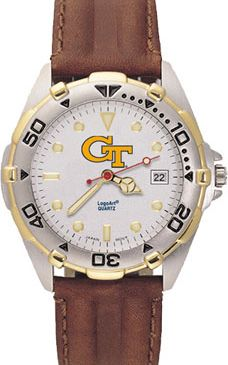 Georgia Tech All Star Mens (Leather Band) Watch