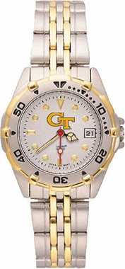 Georgia Tech All Star Womens (Steel Band) Watch