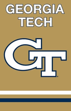 Georgia Tech Applique Banner Flag