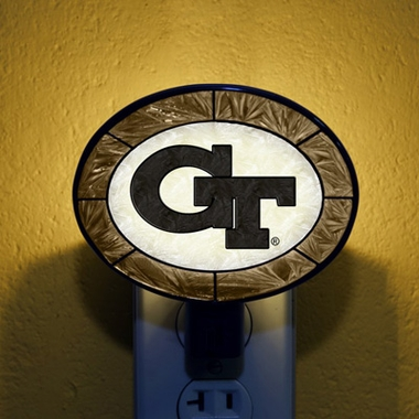 Georgia Tech Art Glass Night Light