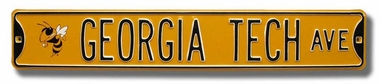 Georgia Tech Ave w/ Logo Street Sign