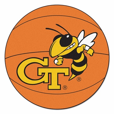 Georgia Tech Basketball Shaped Rug