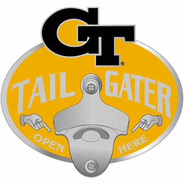 Georgia Tech Bottle Opener Hitch Cover