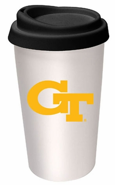 Georgia Tech Ceramic Travel Cup
