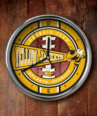 Georgia Tech Chrome Clock