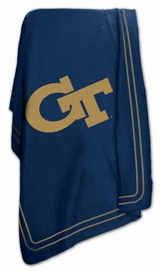 Georgia Tech Classic Fleece Throw Blanket
