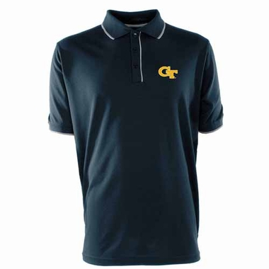 Georgia Tech Mens Elite Polo Shirt (Team Color: Navy)