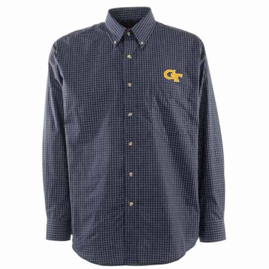 Georgia Tech Mens Esteem Button Down Dress Shirt (Team Color: Navy)