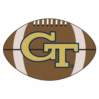 Georgia Tech Football Shaped Rug