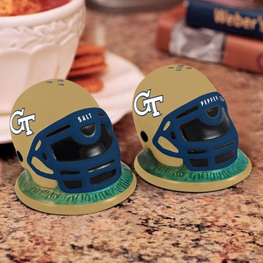 Georgia Tech Helmet Ceramic Salt and Pepper Shakers