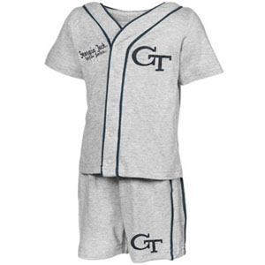 Georgia Tech Infant Batter Up Shirt & Shorts Set - 6-12 Months