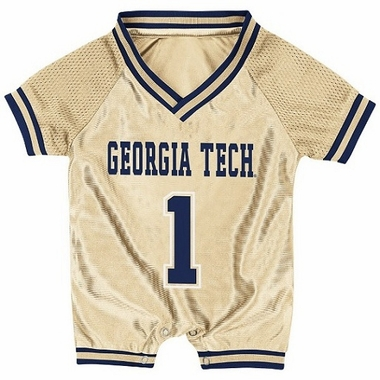 Georgia Tech Infant Pounce Football Jersey Onesie