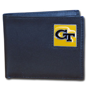 Georgia Tech Leather Bifold Wallet (F)