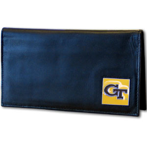Georgia Tech Leather Checkbook Cover (F)