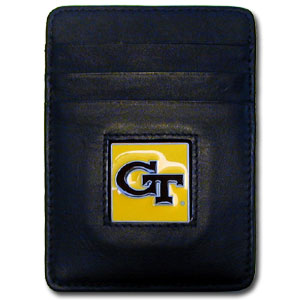 Georgia Tech Leather Money Clip (F)
