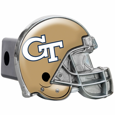 Georgia Tech Metal Helmet Trailer Hitch Cover