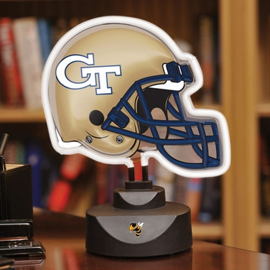 Georgia Tech Neon Display Helmet