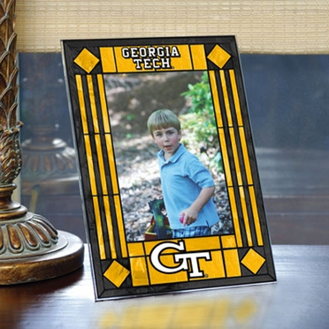 Georgia Tech Portrait Art Glass Picture Frame