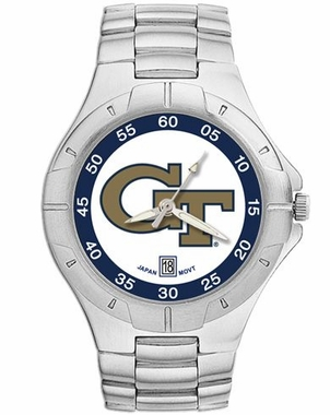Georgia Tech Pro II Men's Stainless Steel Watch