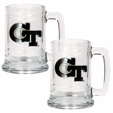 Georgia Tech Set of 2 15 oz. Tankards