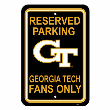 Georgia Tech Plastic Parking Sign (P)