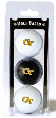 Georgia Tech Set of 3 Multicolor Golf Balls